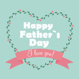Happy Father Day Poster Card Vector Illustration Stock Image
