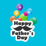 Happy Father Day Poster Card Vector Illustration Stock Photos