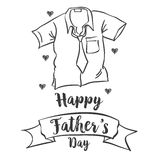 Happy father day simple style. Vector illustration Royalty Free Stock Photo