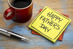 Happy father day on sticky note royalty free stock photography