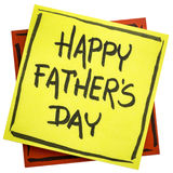 Happy father day on sticky note Royalty Free Stock Image