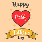 Happy father day style card collection. Vector illustration Royalty Free Stock Images