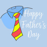 Happy father day style cartoon for card. Vector art Stock Images