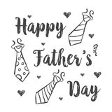 Happy father day style hand draw. Vector illustration Stock Photography
