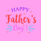 Happy father day style pink background. Vector illustration Stock Photos