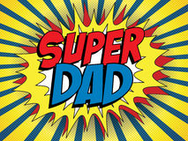 Happy Father Day Super Hero Dad Royalty Free Stock Images