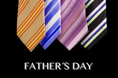 Happy father day tie greeting card Stock Photography