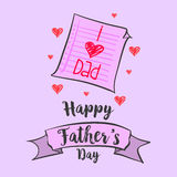 Happy father day vector art. Collection design Royalty Free Stock Images