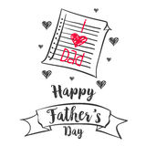 Happy father day vector illustration. Collection stock Stock Images
