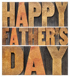 Happy father day in wood type Stock Images