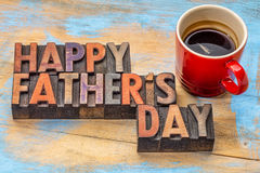 Happy father day in wood type Royalty Free Stock Photo
