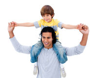 Happy father having fun with his son Royalty Free Stock Photo