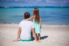 Happy father and his adorable little daughter at Stock Photo