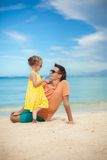 Happy father and his adorable little daughter have Royalty Free Stock Images