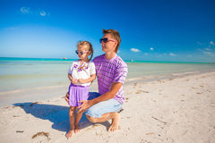 Happy father and his adorable little daughter Royalty Free Stock Photo