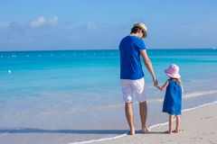 Happy father and his adorable little daughter Stock Images