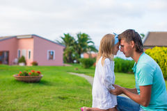 Happy father and his adorable little daughter Royalty Free Stock Photography