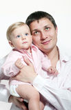 Happy father and his baby Royalty Free Stock Images