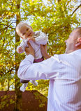Happy father and his baby Royalty Free Stock Photos