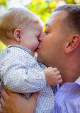 Happy father and his baby Royalty Free Stock Photo