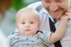 Happy father with his baby son Royalty Free Stock Image