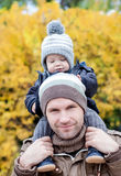 Happy father and his baby son Royalty Free Stock Images