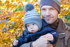 Happy father and his baby son Stock Photography