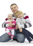 Happy father with his children Stock Photos