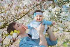 Happy father with his cute daughter Stock Image