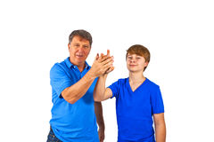 Happy father with his cute son Royalty Free Stock Photos