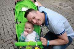 Happy father and his little boy. Father and son. Royalty Free Stock Photo