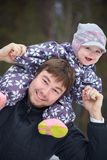 Happy father  with his little child Royalty Free Stock Photo