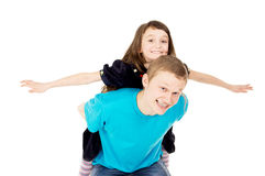 Happy father and his little daughter play Royalty Free Stock Photo
