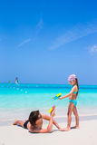 Happy father with his little kid enjoying beach vacation Royalty Free Stock Images