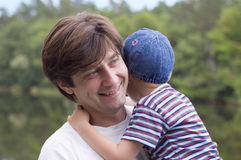 Happy father with his little son Royalty Free Stock Photo