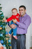 The happy father with his small boy smiling Royalty Free Stock Image