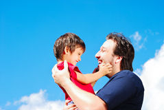 Happy father and his son Royalty Free Stock Images