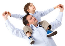 Happy father with his son Stock Images