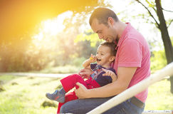 Happy father with his son Royalty Free Stock Photography