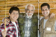 Happy Father With His Sons stock images