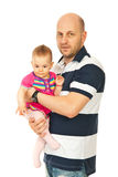 Happy father holding baby Royalty Free Stock Images