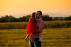 Happy father and his daughter royalty free stock image