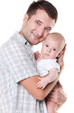 Happy father holding his son Stock Photography