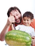 Happy father and kid Royalty Free Stock Photos