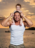 Happy father with little daughter Stock Images
