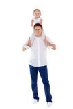 Happy father with little son. Stock Images