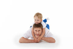 Happy father with little son. Royalty Free Stock Photos