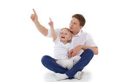 Happy father with little son. Stock Photos