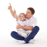 Happy father with little son. Stock Photo