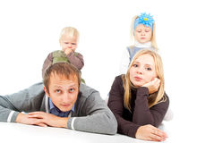 Happy father and mother Royalty Free Stock Images